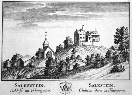 Salenstein 1754; Stich von David Herrliberger