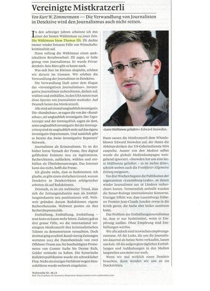 """Weltwoche"" vom 27. November 2014"
