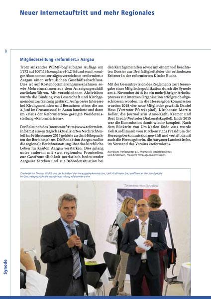 Jahresbericht 2015 Landeskirche Aargau