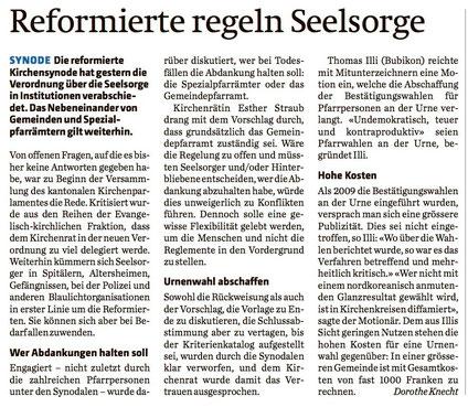 Zürcher Landzeitung (Landbote, Zürichsee-Zeitung, Zürcher Unterländer, Zürcher Oberländer) vom 6. April 2016