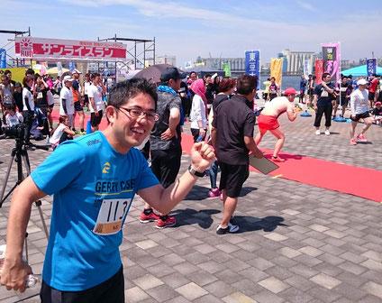 朝焼けリレーマラソン「サンライズラン」福岡ベイサイド