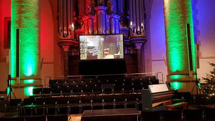 Orgelgala Martinikerk Groningen, een mooi voorbeeld hoe licht de presentatie kan verbeteren.