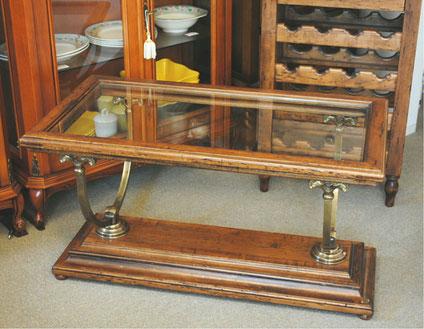 サロンテーブル おしゃれ カクテルテーブル コーヒーテーブル ガラステーブル 木製 ガラス イタリア製 古木 真鍮 カパーニ アンティーク CAPANNI