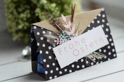 Stampin Up Ostern Goodie Verpackung Mitbringsel Kleinigkeit Kirschblüte Designerpapier Geschenk Blütenfantasie Schöner Strauß