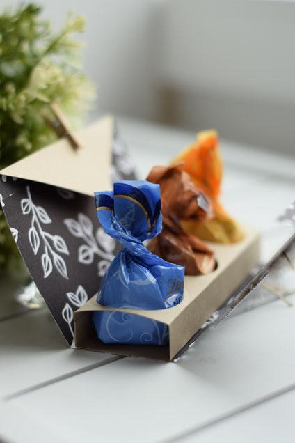 Stampin Up Papierwunder Ostern Fioretto Pralinen Verpackung basteln Designerpapier Schöner Strauß Blütenfantasie