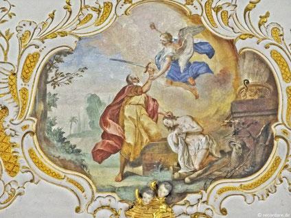 Deckenfresko Abraham opfert Isaak von Johann B. Enderle