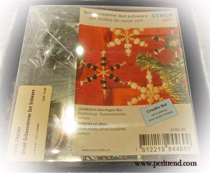 www.perltrend.com Perltrend Luzern Schweiz Onlineshop Schmuck Perlen Accessoires Dekoration Stern Sterne Schneesterne Weihnachten Weihnachtsgeschenk