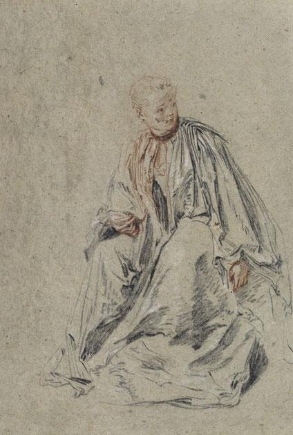 "Jean Antoine Watteau, Sitzende junge Frau (""Briefleserin""), um 1715/1716, Kreide, Rötel auf Papier © Staatliche Museen zu Berlin, Kupferstichkabinett. Foto: Jörg P. Anders"