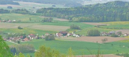 Zillendorf: April 2012 (Aufnahme vom kleinen Hohenstein)