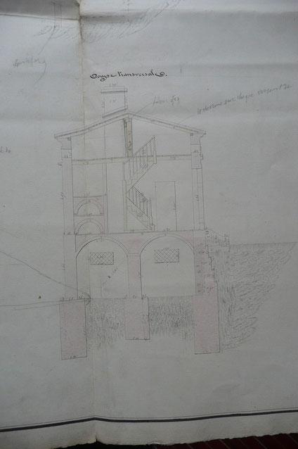 Croquis de la maison éclusière de Bordeneuve  N°5 (archives VNF).