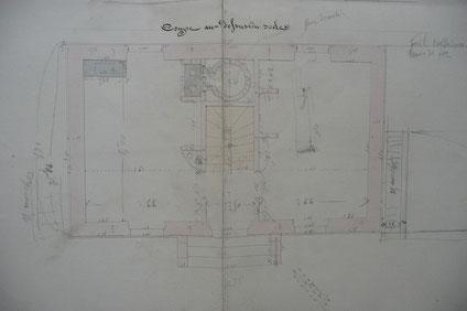 Croquis de la maison éclusière de Bordeneuve N°5 (archives VNF)