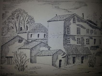 Esquisse réalisée par Christiane MICHEL en 1986