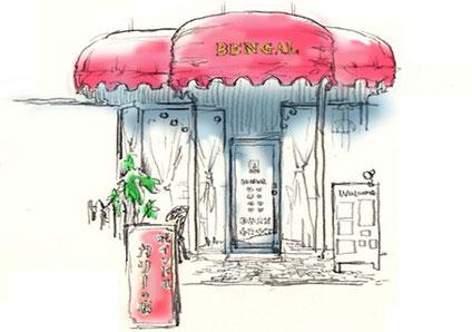旧店舗の外観 赤いテントが目印でした