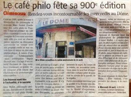 Le café philo fête sa 900 eme édition