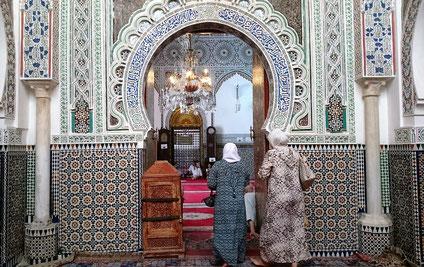 モスクの入り口(異教徒は中に入れません)