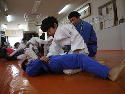 キッズ柔術クラステクニック反復練習