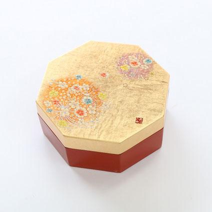 山中塗 金箔工芸 てまり アクセサリーBOX