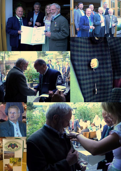 Ehrung der verdienten Mitglieder des WBV Strebersdorf:Fritz STRAUCH und DI Hermann MOOSLECHNER, durch ÖKR DI Herbert SCHILLING.