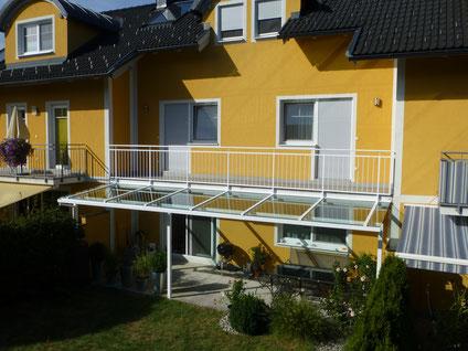 Terrassenüberdachung Stahl feuerverzinkt und pulverbeschichtet