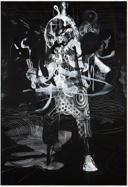 Fidelio-            -Pastel, pigment on canvas-      -2013-      -190x130cm