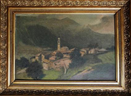 Paroccia di Vallarsa. Gemälde von Josef Altheimer (1860 - 1913)