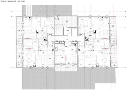 Plan R+4 et R+5, projet d'habitat participatif à Beauzelle, accompagné par Faire-Ville et porté par Le COL