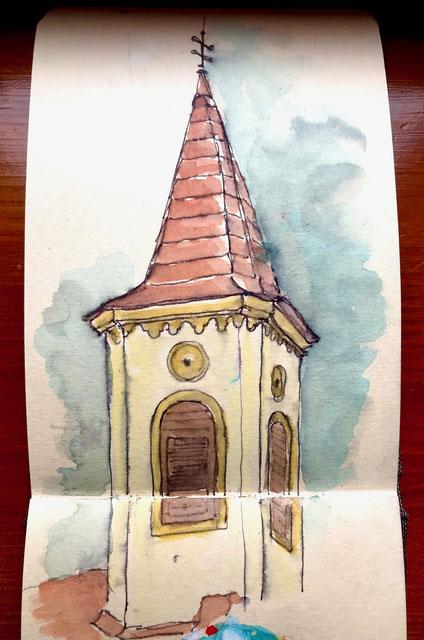 Birgit_Lippeck_Kirchturm in Zsira