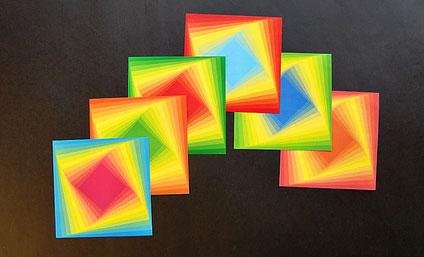 "Origami Papier Set ""Spirale"" - Japanische Motive 15x15 cm"