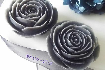 ソープカービング 黒 バラ