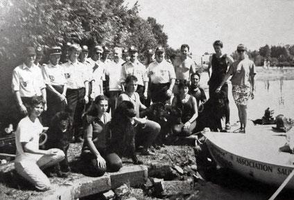 Démonstration avec les pompiers de Vichy