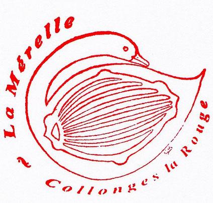 Tampon de La Mérelle de Collonges la Rouge pour les pèlerins vers Rocamadour, Saint-Jacques de Compostelle