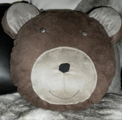 coussin tête d'ours, pour ENZO