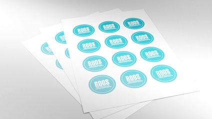 Stickers produced by UV digital printing