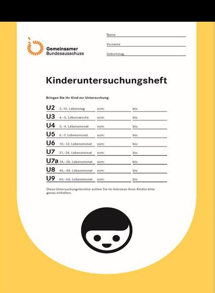 """Das neue Früherkennungsheft (""""gelbes Heft"""") des GBA seit 2016."""