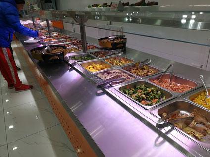 中国大連 遼寧師範大学 学生食堂 ハラール料理 育英楼