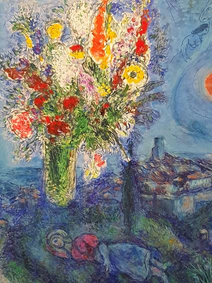 Schläferin mit Blumen. Marc Chagall. Albertina, Wien