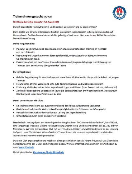 THCAB Plakat Mitglieder