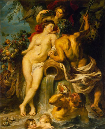 "RUBENS, ""L'union de la Terre et de l'Eau"", (vers 1618), L'Ermitage, St. Petersbourg (source : Web Gallery of Arts)."