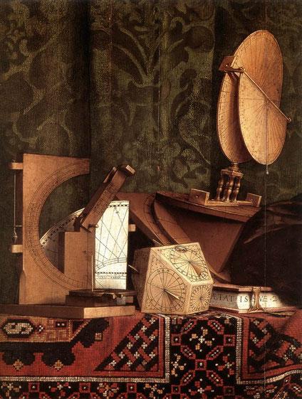 "Hans HOLBEIN le Jeune, ""Les Ambassadeurs"" (détail), 1533, National Gallery, London (source : Web Gallery of Arts)"