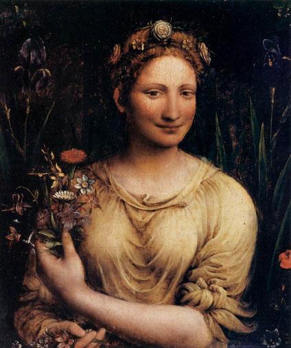 "Francesco MELZI, ""Flora"", Galleria Borghese, Rome (source : Web Gallery of Art)."