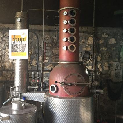 Rhum Rhum Brennblase bei Bielle (Marie Galante) © Rum Rarities