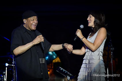 Al Jarreau and Laura Furci during the vocal duet