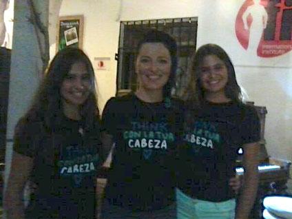 Ana and Maria(LA ISLA) antes del concierto en Damajuana, JEREZ DE LA FRONTERA