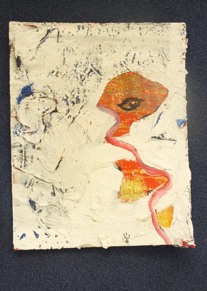 augenblick der zeugung, 40x50 cm, Acryl und Mischtechnik auf Hartpappe, € 180,00