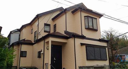 越谷市の戸建住宅、外壁塗装・屋根塗装工事完了の写真