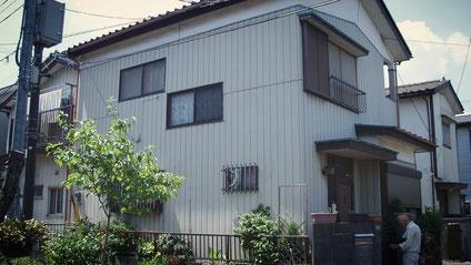 さいたま市岩槻区にの戸建住宅、外壁塗装工事前の写真