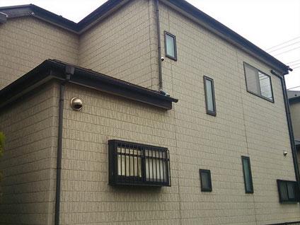 上尾市の戸建住宅、外壁塗装・屋根塗装工事前の写真