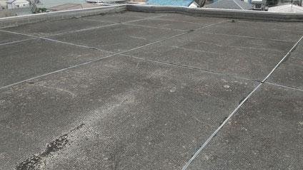 さいたま市北区の集合住宅、屋上防水工事前の写真