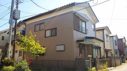 さいたま市岩槻区の戸建住宅、外壁塗装工事完了の写真