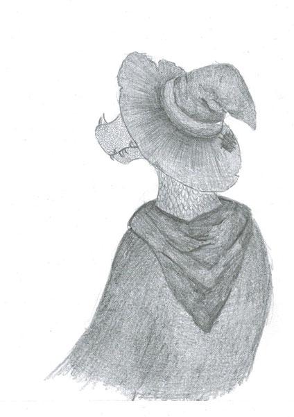 Noch ein Bild von Lukukian Kalulukia. Das kommt davon, wenn man eine Quas in Langeweile mit einem Bleistift und Papier sitzen lässt.
